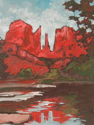 Painting - Cathedral Rock by Sandy Tracey