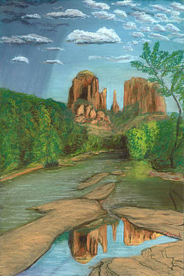Cathedral Rock Painting - Cathedral Rock Sedona by Jackie Novak
