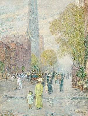 City Street Painting - Cathedral Spires by Childe Hassam