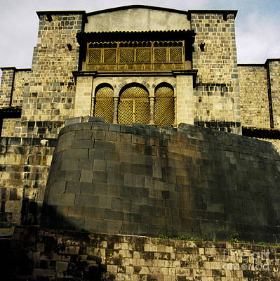 35mm Photograph - Cathedral With Inca Foundation by Darcy Michaelchuk