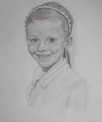 Catherine's Grandaughter Art Print by Peter Edward Green