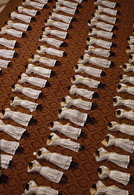 Catholic Clergy Prostrate Themselves Print by James L. Stanfield