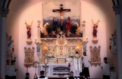 Photograph - Catholic Mass by Myrna Migala