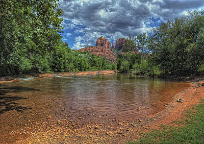 Brown White Sedona Trees Photograph - Cathredral by Stephen Campbell