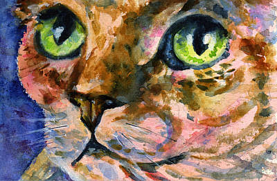 Painting - Cats Eyes 21 by John D Benson