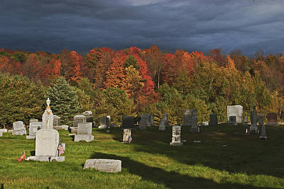 Photograph - Catskills Cemetary Under Overcast Skies by Gregory Scott