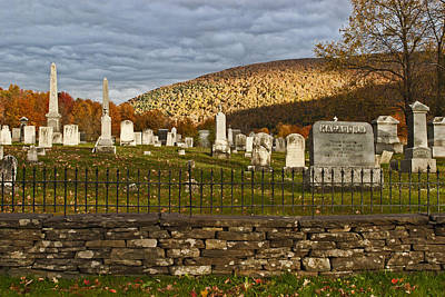 Photograph - Catskills Cemetery In Autumn by Gregory Scott