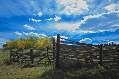 Cattle Chute And Corral Art Print by Stephen  Johnson