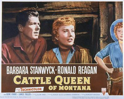 Cattle Queen Of Montana, Ronald Reagan Art Print by Everett