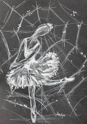 Caught In A Web  Art Print by Sladjana Lazarevic