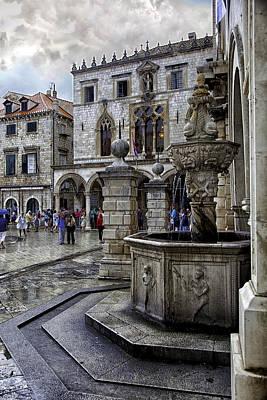 Dubrovnik Croatia Photograph - Caught In The Rain - Dubrovnik by Madeline Ellis