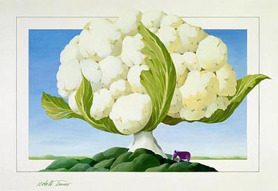 Cauliflower Painting - Cauliflower Tree by Isabelle Tanner
