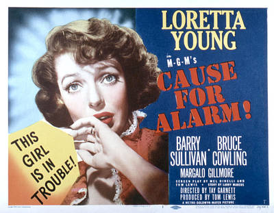Posth Photograph - Cause For Alarm, Loretta Young, 1951 by Everett