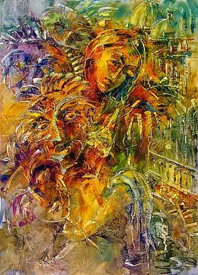 Painting - Cavalcade Of Carnival / Sold by Andras Manajlo