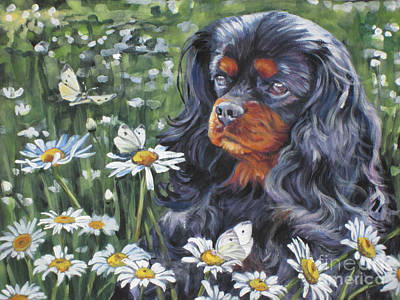 Painting - Cavalier King Charles In The Wildflowers by Lee Ann Shepard