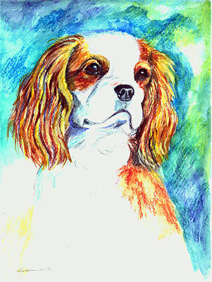 Cavalier Wall Art - Painting - Cavalier King Charles Spaniel by Lyn Cook