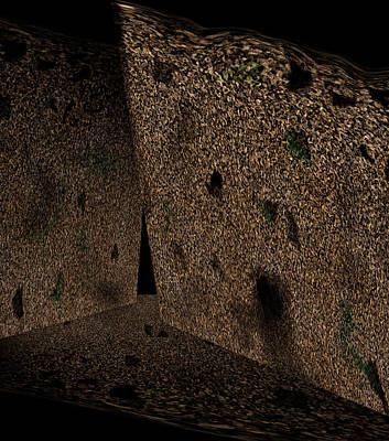 Subterranean Painting - Cavern Walls by Christopher Gaston