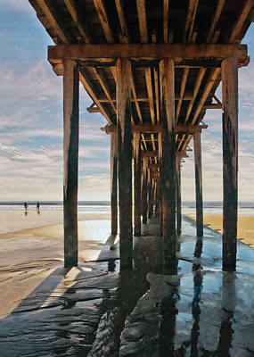 Digital Art - Cayucos Pier IIi by Sharon Foster