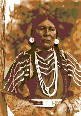 Cayuse Woman Art Print