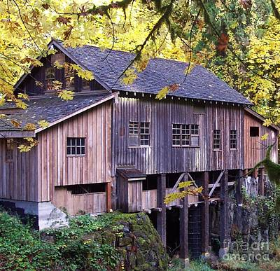 Photograph - Cedar Creek Grist Mill In Autumn by Chalet Roome-Rigdon