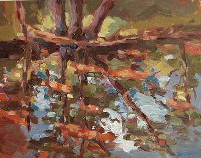 Cedar Creek Reflection Art Print by Jenny Anderson