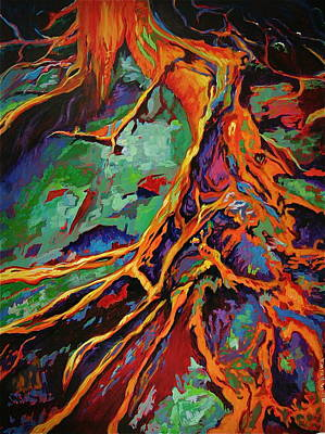 Painting - Cedar Roots by Gregory Merlin Brown