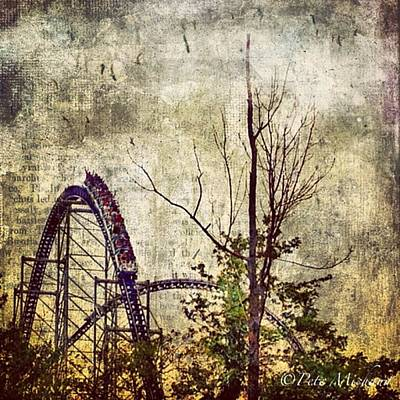#cedarpoint #rollercoaster #ohio Art Print by Pete Michaud