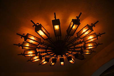 Ceiling Light At One O Clcok Art Print by Dietrich Sauer