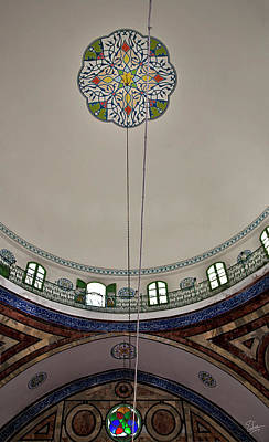 Photograph - Ceiling Of The El Jazzar Mosque by Endre Balogh