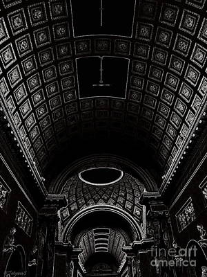 Art Print featuring the photograph Ceiling. Vatican by Tanya  Searcy