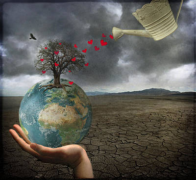 Gale Digital Art - Celebrate Earth Day...everyday by Marie  Gale
