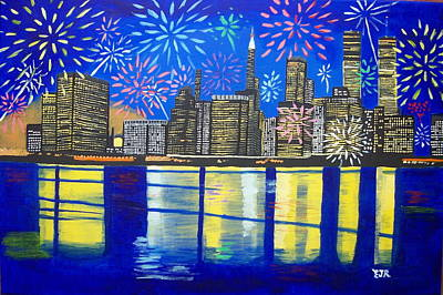 Celebrate New York Your Spirit Will Never Die Art Print by Eamon Reilly