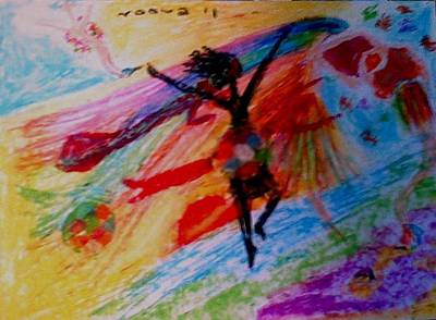 Celebration Of Life.. Be..2 Art Print by Rooma Mehra