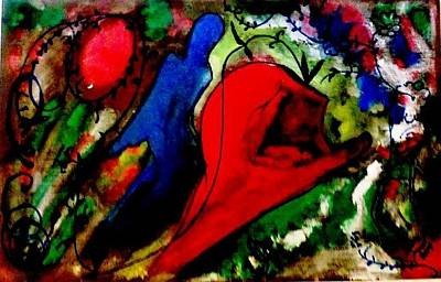 Celebration Of Life.. Be..5 Art Print by Rooma Mehra