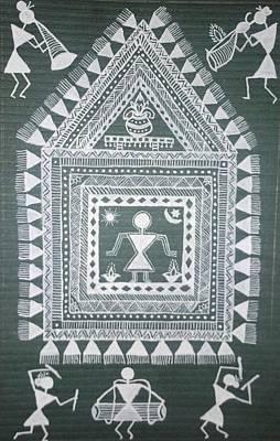 Tarpa Dance Painting - Celebrations by Samiksha Jain