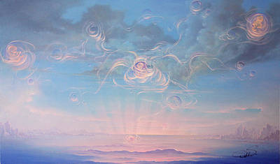 Celestial Connection Art Print by Hans Doller
