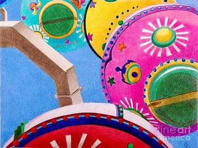 Celestial Ferris Wheel Art Print by Glenda Zuckerman