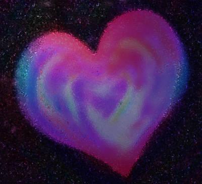Celestial Heart Print by Gina Barkley