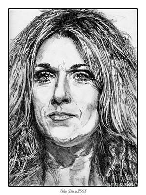 Drawing - Celine Dion In 2008 by J McCombie