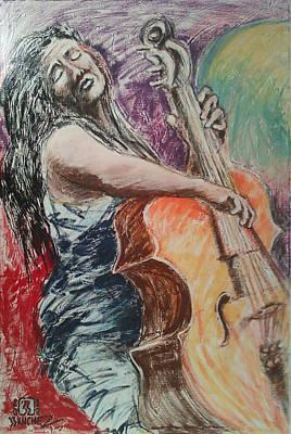 Cellist Art Print by Joemar Sanchez