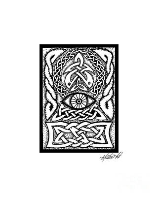 Drawing - Celtic All Seeing Eye by Kristen Fox