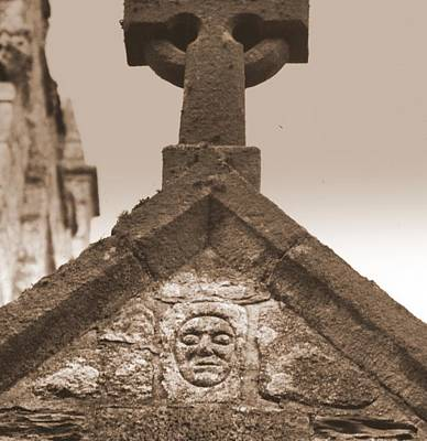 Magical Photograph - Celtic Face At Perranporth Church Cornwall by Rachel Burch