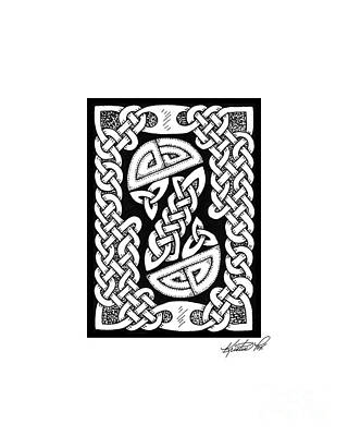 Drawing - Celtic Figure Eight by Kristen Fox