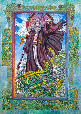 Celtic Irish Christian Art - St. Patrick Art Print by Jim FitzPatrick