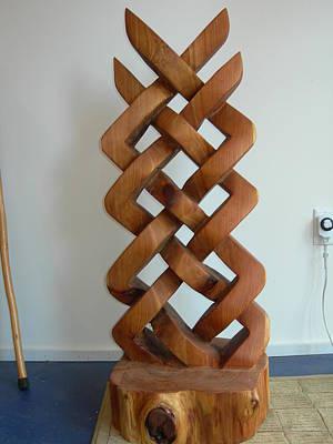 Celtic Knot Sculpture Original by Shane  Tweten