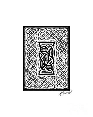 Drawing - Celtic Knotwork Framing by Kristen Fox