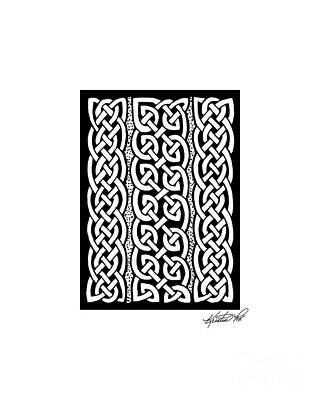 Drawing - Celtic Knotwork Stripes by Kristen Fox