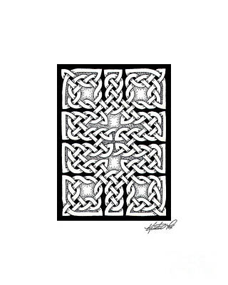 Drawing - Celtic Knotwork Ten Rooms by Kristen Fox