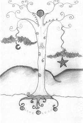 Drawing - Celtic Tree by Barbara Gallagher
