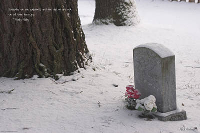 Cemetery In Winter Art Print by Mick Anderson
